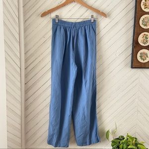 Vintage Pants & Jumpsuits - Vtg Linen Casual Trousers